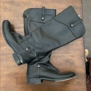 Frye Melissa black leather boots size 6